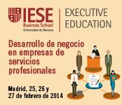 Programa de Desarrollo de negocio en empresas de servicios profesionales IESE Business School